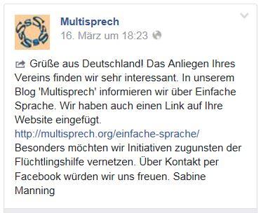 Einfache Sprache Schweiz FB 16.3.16