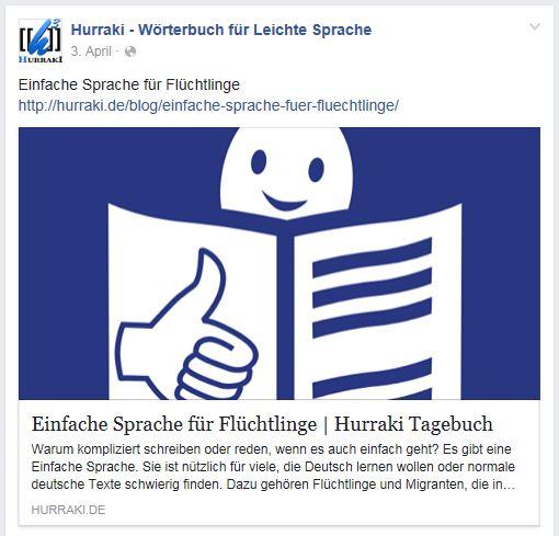 Hurraki zu Einfache Sprache Facebook 3.4.16
