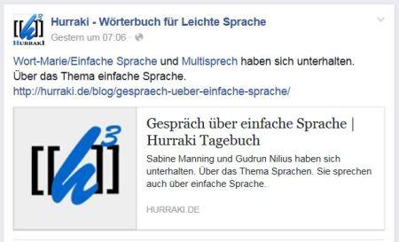 Hurraki zu Interview Facebook 8.7.16